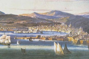 dipinto barche in mare