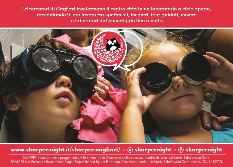 Cartolina Sharper 2018 Notte europea dei ricercatori 2018 L'Università di Cagliari