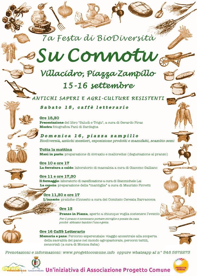 SuConnotu 2018 Su Connotu, iniziativa per parlare di biodiversità, di saperi, di sapori e buone pratiche