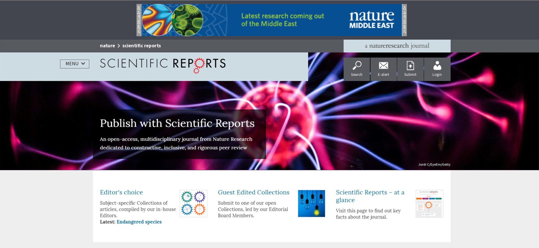 Copertina rivista Scientific Reports Nature Metalli nanoporosi, dai muscoli umani alle applicazioni