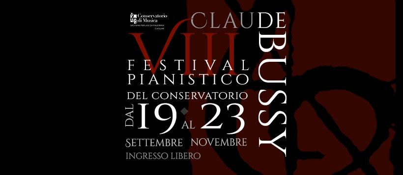 Locandina Debussy Festival pianistico: mercoledì terzo appuntamento