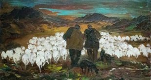 pastori con gregge