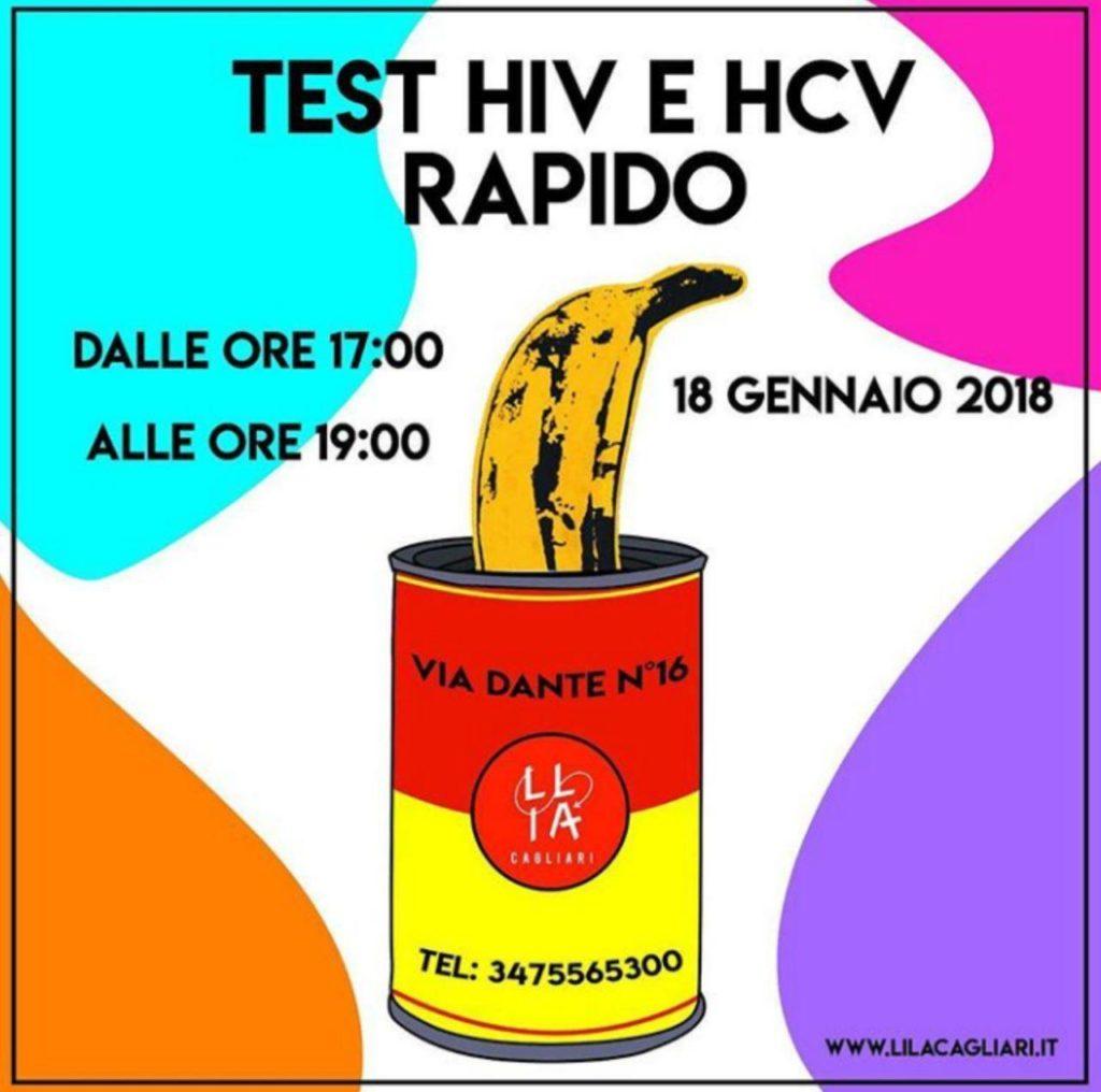test lila 18 gennaio 2018 Cagliari, una giornata sulla prevenzione contro l'Hiv