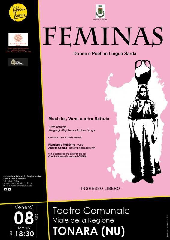 Feminas Donne E Poeti In Lingua Sarda Poesia in Canto per la Festa delle Donne