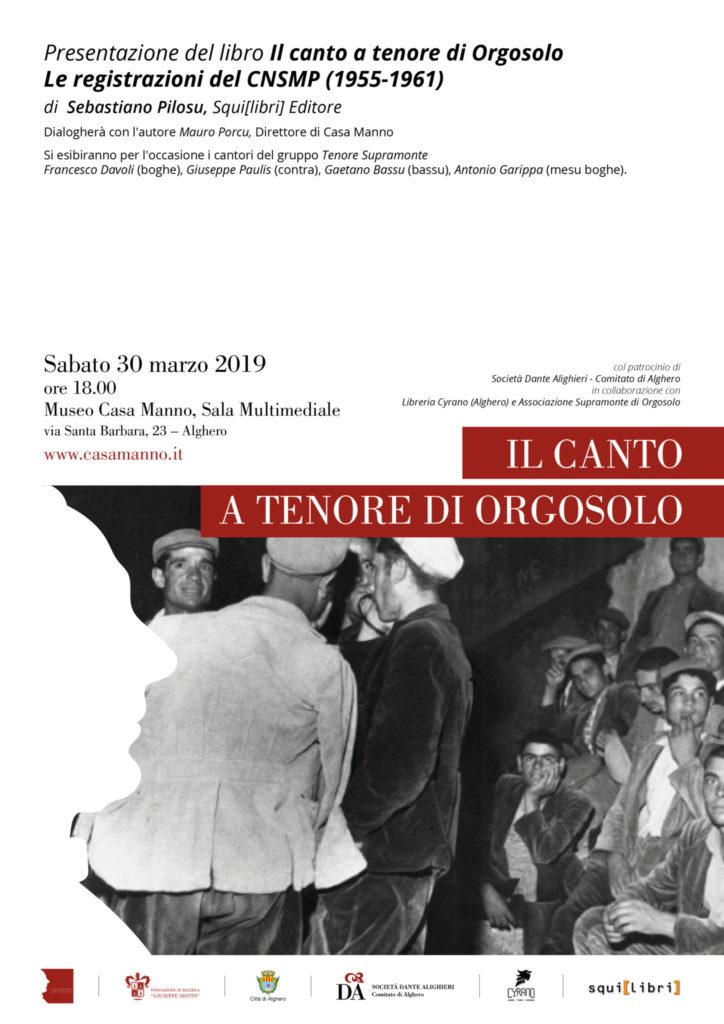 Locandina 1 Il canto tenore a Orgosolo: Sebastiano Pilosu a Casa Manno