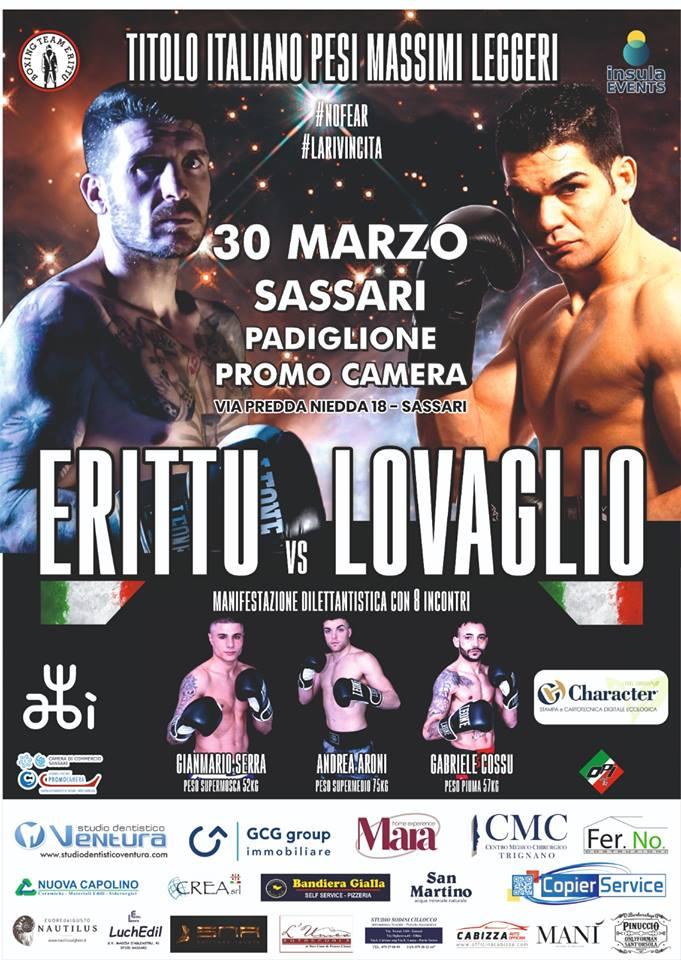 Locandina 2 Erittu vs Lovaglio: domani la presentazione del match
