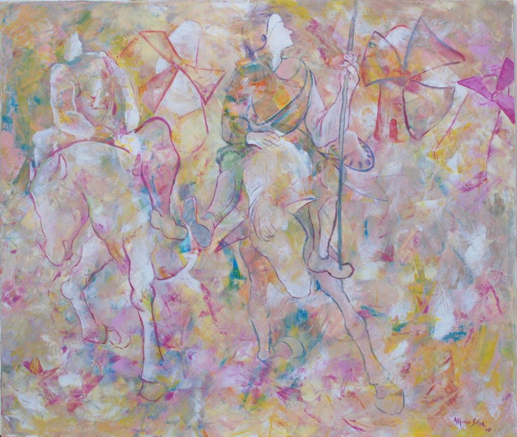 Don Chiscotte Alfonso Silba, il pittore che incanta la Baronia