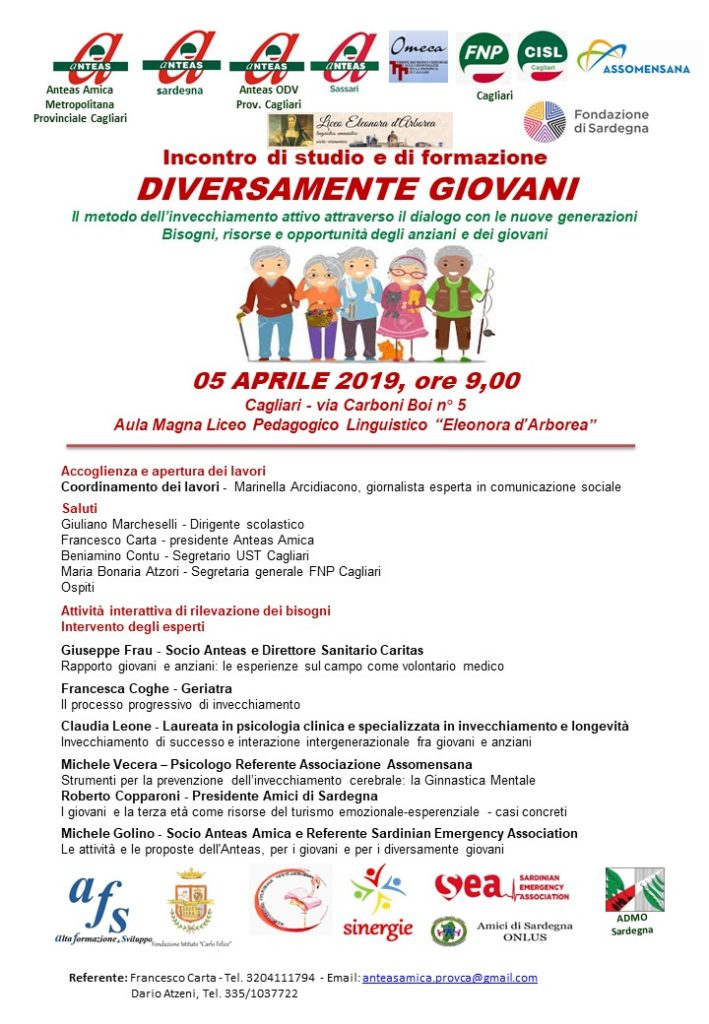 """LOCANDINA DIVERSAMENTE GIOVANI """"Diversamente giovani"""", evento a Cagliari"""