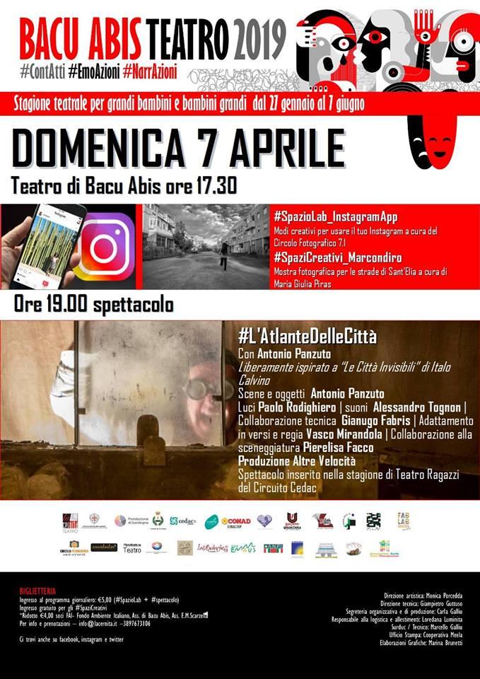 La cernita 7 aprile 1 Bacu Abis Teatro: Gli appuntamenti del 7 aprile
