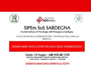 18 maggio Psicologia dellemergenza  730 Psicologia dell'emergenza all' Azienda Ospedaliera Brotzu