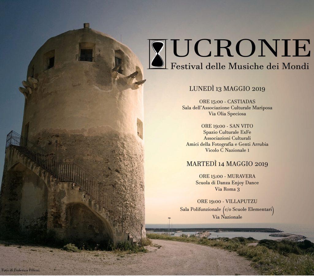 2019 05 13e14 SARRABUS PRESENTAZIONI UCRONIE LOCANDINA Ucronie in giro per il Sarrabus con quattro iniziative
