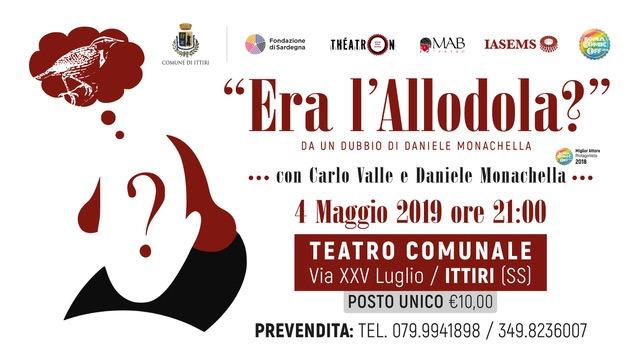 Allodola ITTIRI 4maggio Cover Era l'allodola? dal Roma Comic OFF Festival a Ittiri