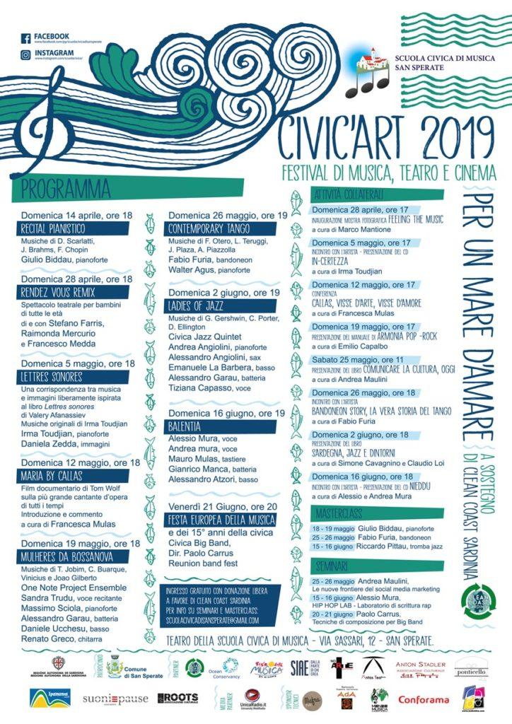 CivicArt programma 2019 Civic'Art, a San Sperate la proiezione di Maria by Callas