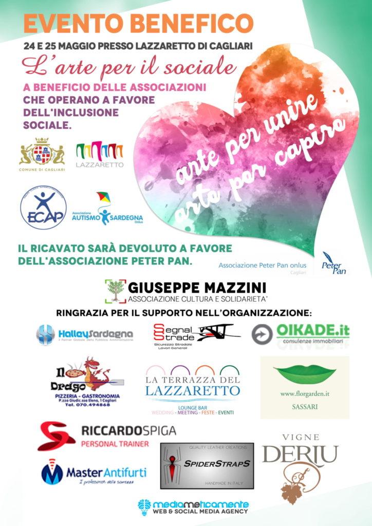 locandina 1 1 Arte per il sociale: evento di beneficenza al Lazzaretto di Cagliari