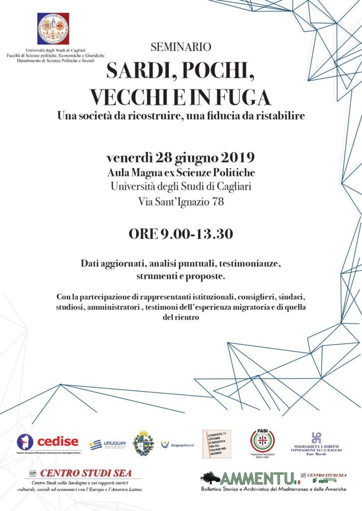 Seminario 28 giugno locandina e programma page 0001 Fuga di cervelli e ritorni in Sardegna, seminario a Cagliari