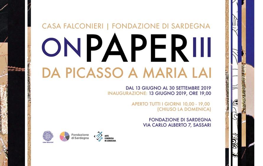 ON PAPER III da Picasso a Maria Lai