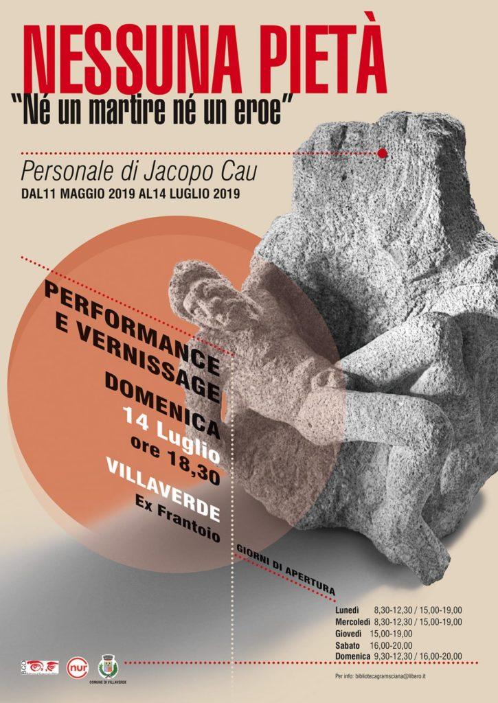 finissage Chiude la mostra di Jacopo Cau Nessuna Pietà ispirata a Gramsci
