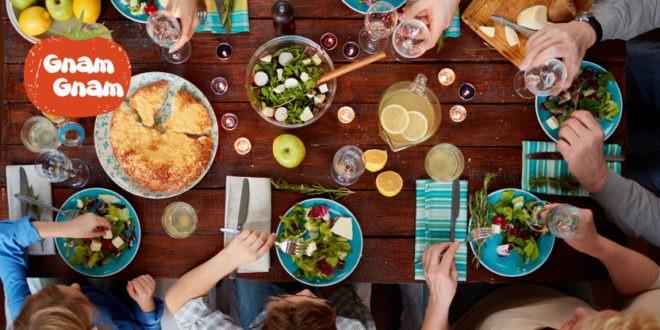 tavolo con cibo