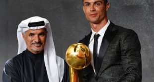 cr7 con il globe soccer awards