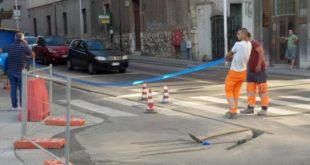 lavori pubblici in strada