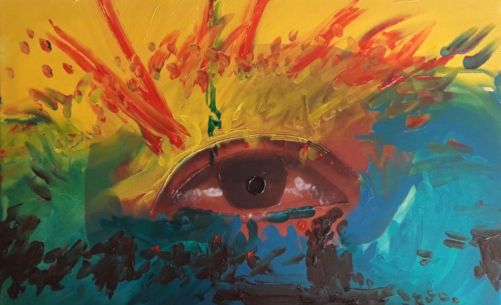 taddannu loccchio 1 Andrea Ferrero: pittore cieco. Mani, colore ed anima oltre le barriere