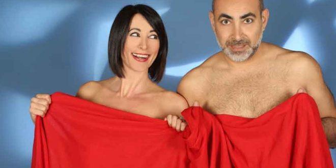 Gli attori Fiona Bettanini e Diego Ruiz.
