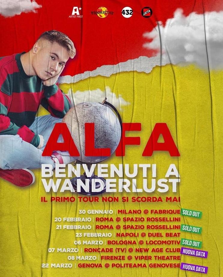 Tour ALFA e la fine del mondo