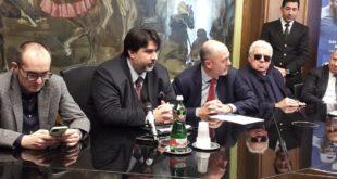 Da sinistra Paolo Truzzu, Christian Solinas, Angelo Binaghi e Nicola Pietrangeli.