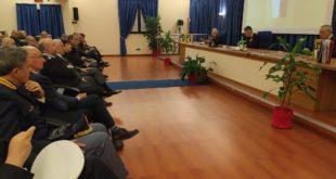 Una foto della presentazione del calendario dei Carabinieri.