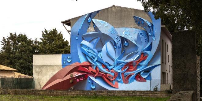 Un murales di Sadali