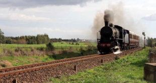 Carbonia,treno a vapore