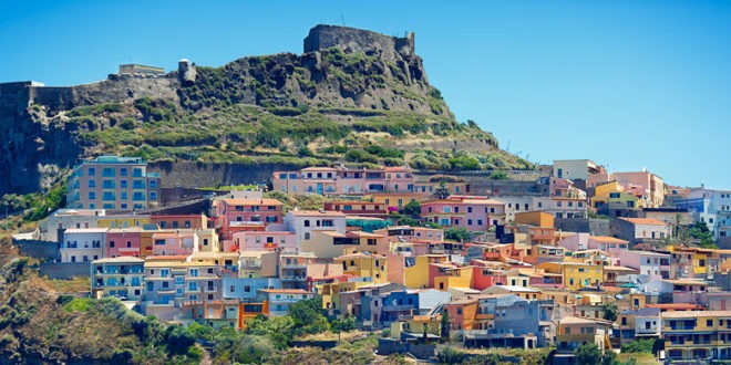 Una vista della città di Castelsardo