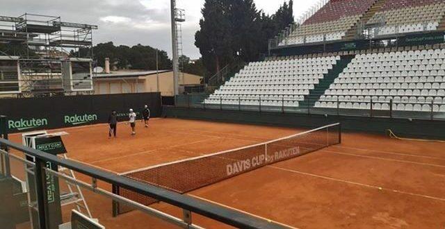 Lo stadio della Coppa Davis a Cagliari