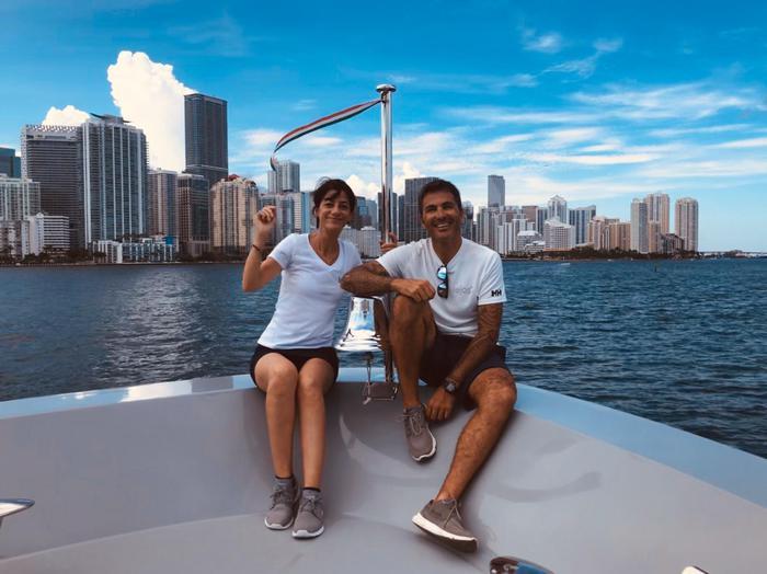 La coppia sassarese a Miami, Mauro Tangianu ed Elena Mele