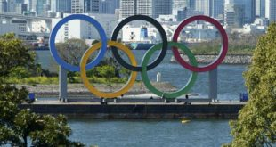 I cinque cerchi olimpici a Tokyo