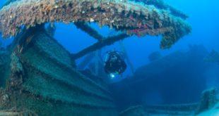 Subacqueo durante un'immersione