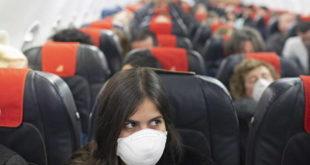 viaggiare in aereo mascherine