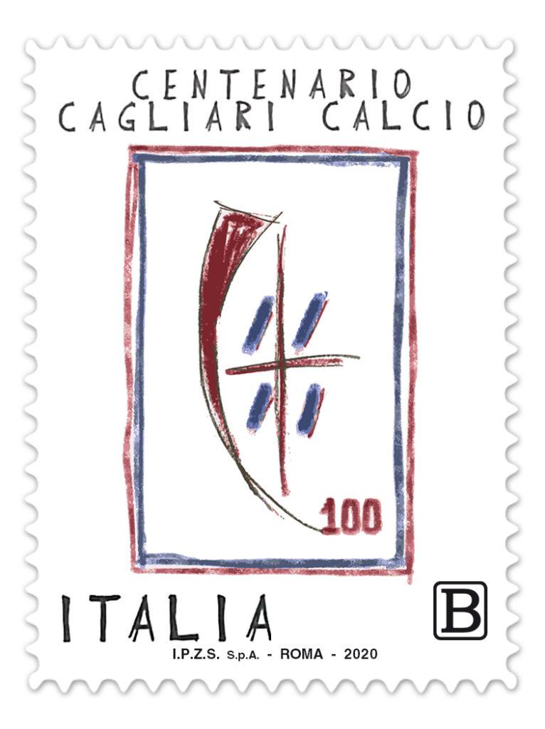 francobollo Cagliari Calcio