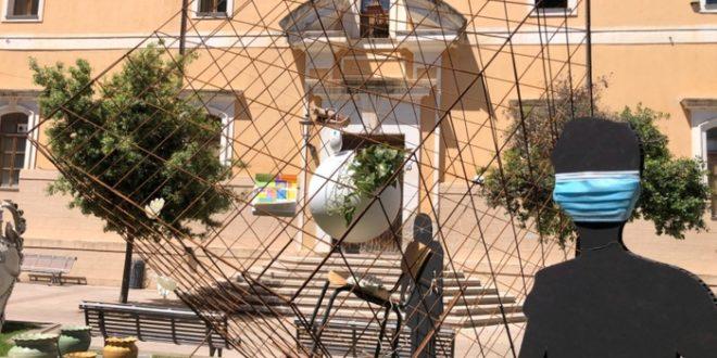 covid installazione oristano piazza arborea
