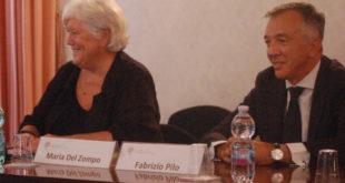 Rettore Maria Del Zompo e Fabrizio Pilo
