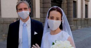 mascherina sposi