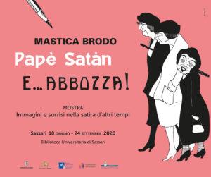 """post 3 Sassari, """"Masticabrodo, Papè Satan e… abbozza!"""": dal 18 giugno la mostra in Biblioteca Universitaria"""