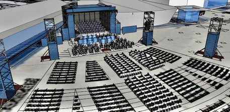 Teatro lirico esterno progetto 3d virtuale