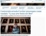 Manu Invisible per l Universita di Cagliari Manu Invisible: l'artista inaugura l'Anno Accademico