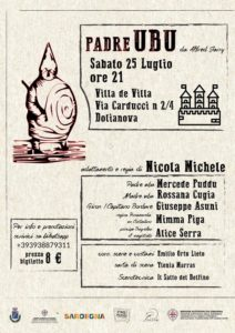 """Padre UBU Salto del Delfino locandina 1 Intervista a Nicola Michele: """"La Compagnia Salto del Delfino torna in scena"""""""