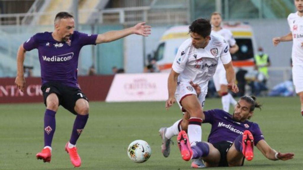 Ribery col cagliari e1594237451384 La Fiorentina resta al palo, col Cagliari è 0-0