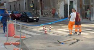 Cagliari lavori fibra ottica