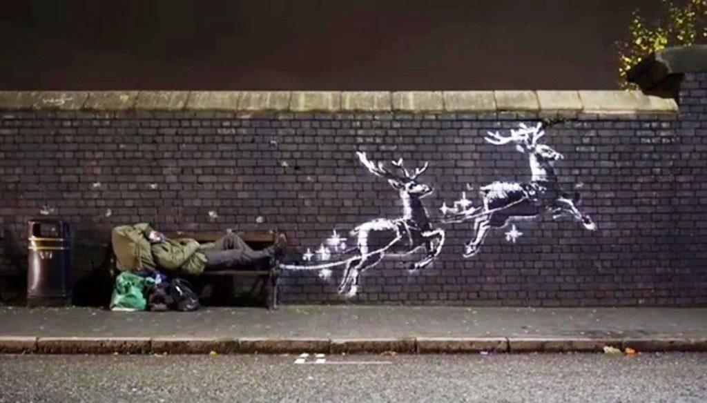 banksy renne 1217 1 La mostra UNKNOWN con Banksy e la street art