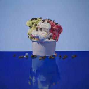 francesco stile The new America Olio su tela 100x100 2 31 luglio al Museo Magmma le opere finaliste del Premio Marchionni