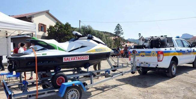 Moto d'acqua per i soccorsi in mare in Costa Verde